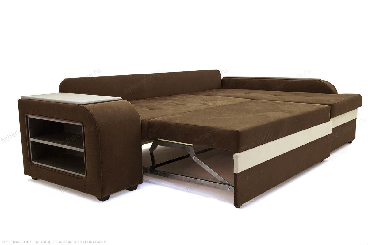 Угловой диван Парадиз Maserati Brown + Beight Спальное место