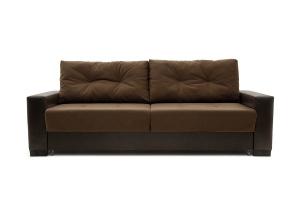 Двуспальный диван Хлоя Maserati Brown + Sontex Umber Вид спереди