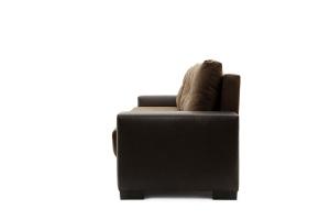 Двуспальный диван Хлоя Maserati Brown + Sontex Umber Вид сбоку