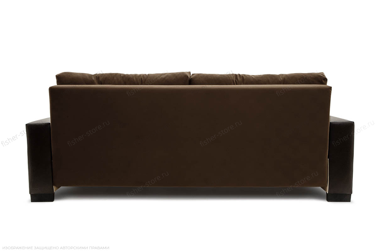 Двуспальный диван Хлоя Maserati Brown + Sontex Umber Вид сзади