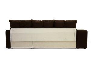 Угловой диван Парадиз Maserati Brown + Beight Вид сзади