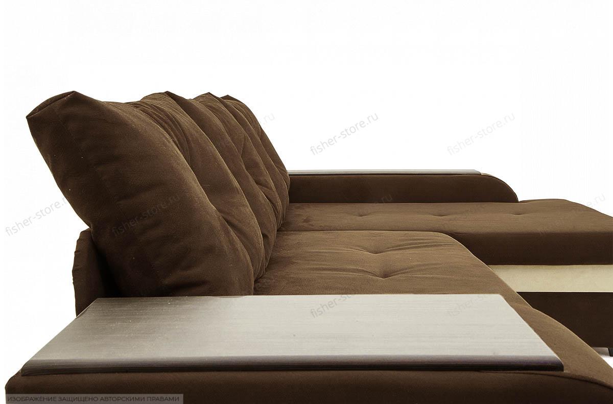 Угловой диван Парадиз Maserati Brown + Beight Подушки