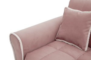 Прямой диван Виа-9 Maserati Light violet + Bieght Подлокотник