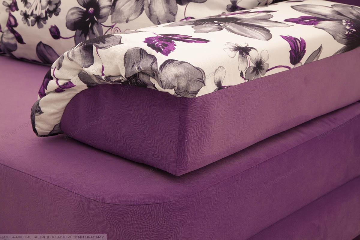 Прямой диван Алия-2 Maserati Purple + Iris Violet Подлокотник