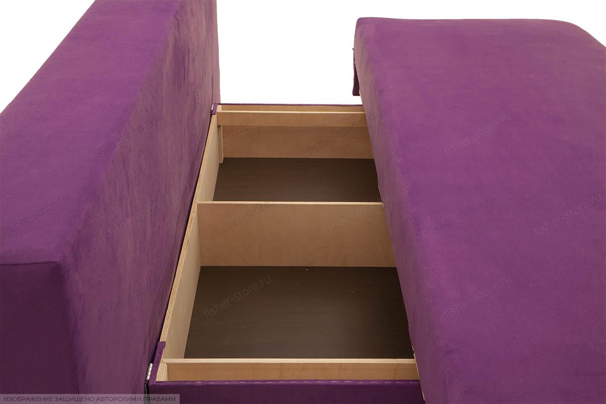 Прямой диван Алия-2 Maserati Purple + Iris Violet Ящик для белья