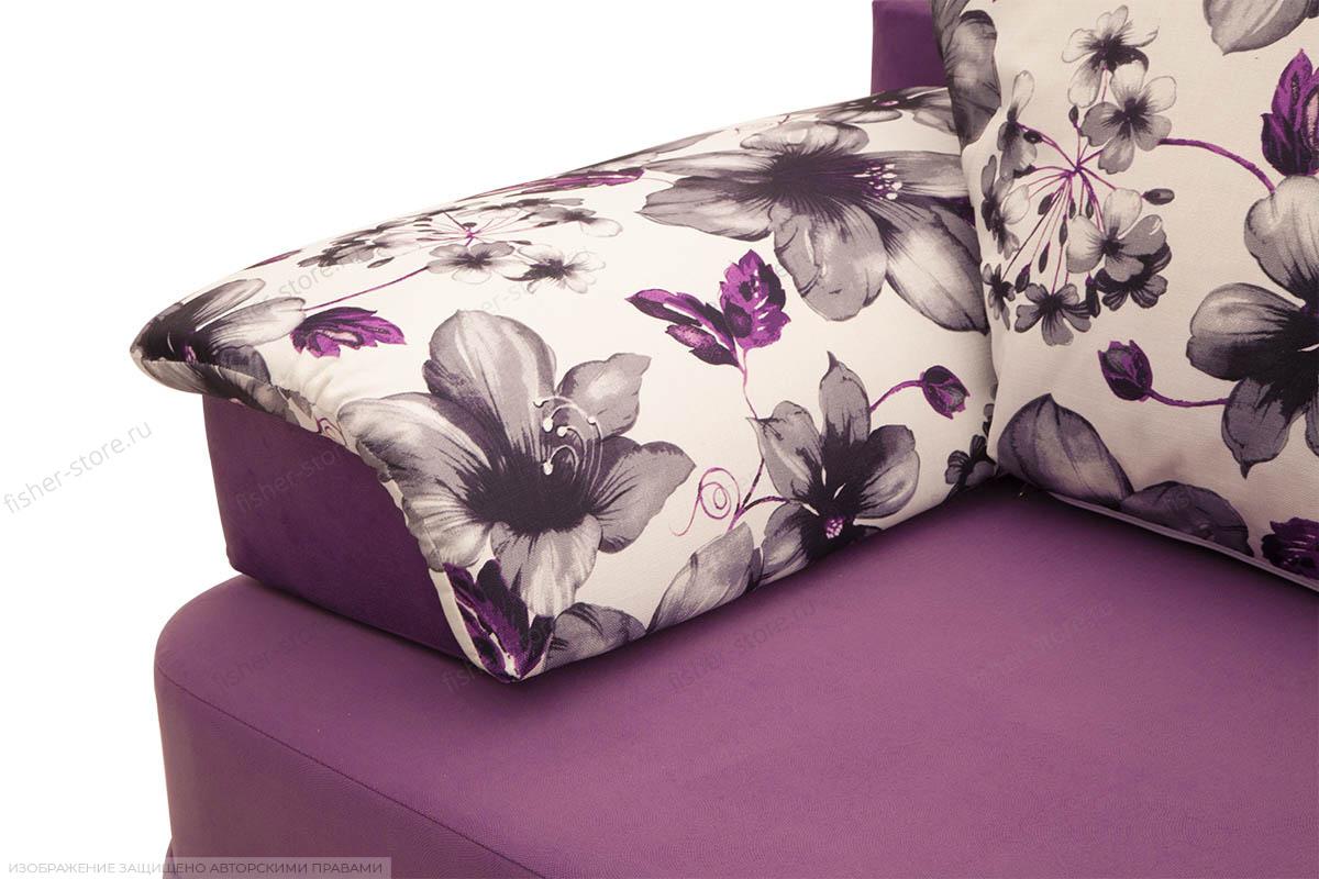 Прямой диван Алия-2 Maserati Purple + Iris Violet Подушки