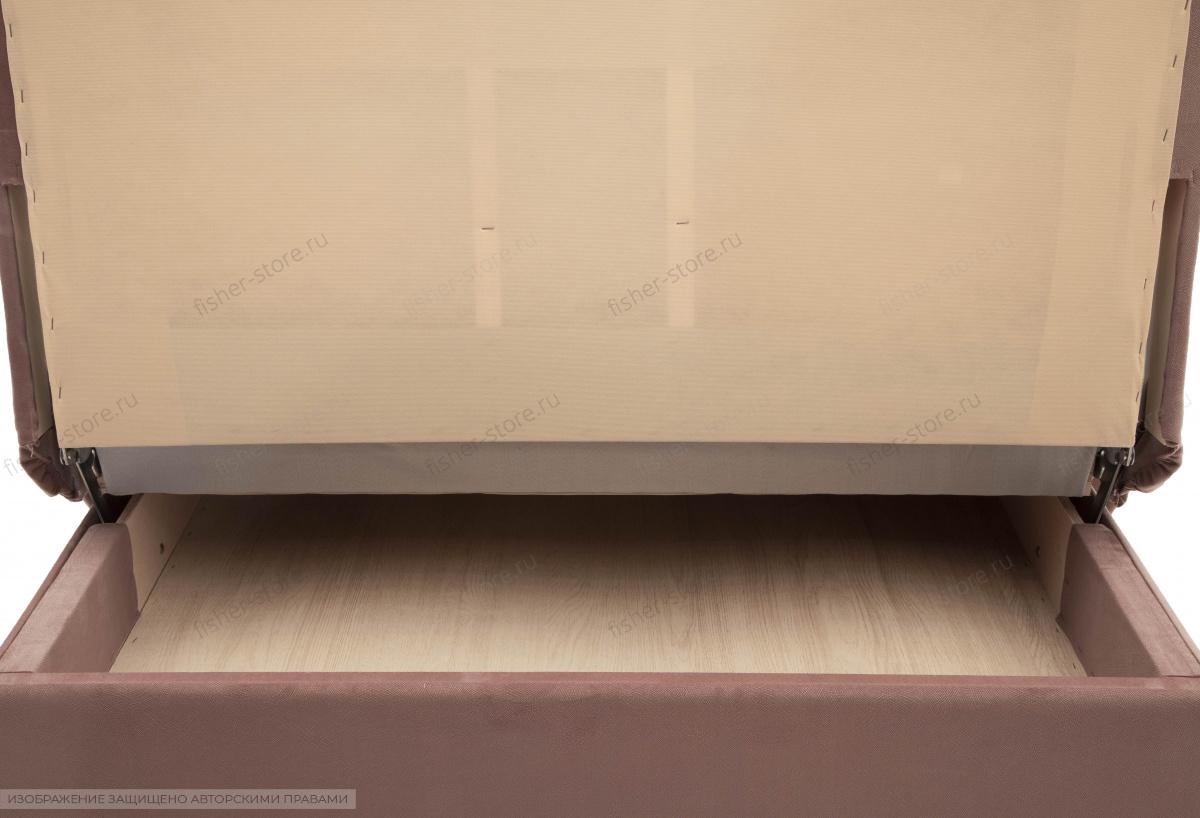 Прямой диван Аккорд-5  Maserati Light Violet Ящик для белья