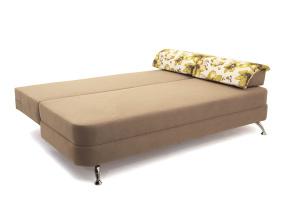 Прямой диван Алия-2 Maserati Light Brown + Iris Green Спальное место