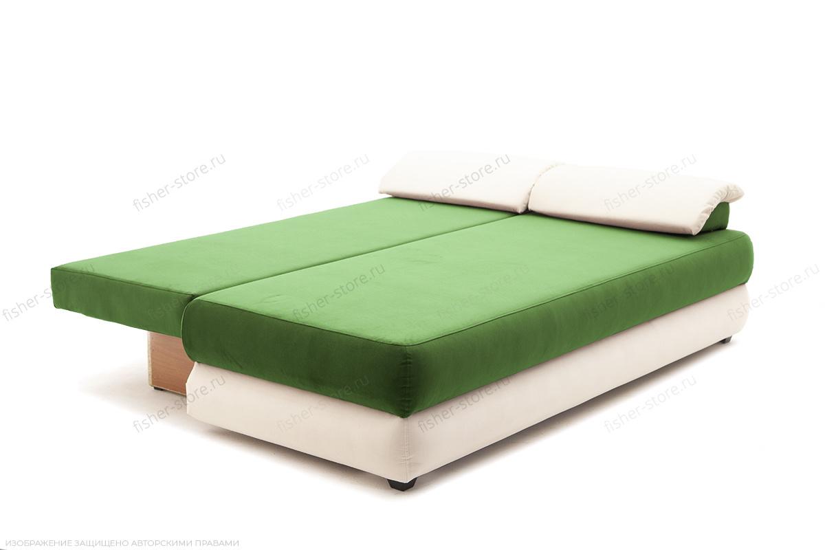 Прямой диван Фиджи Maserati Green + White Спальное место