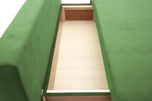 Прямой диван Фиджи Maserati Green + White Ящик для белья