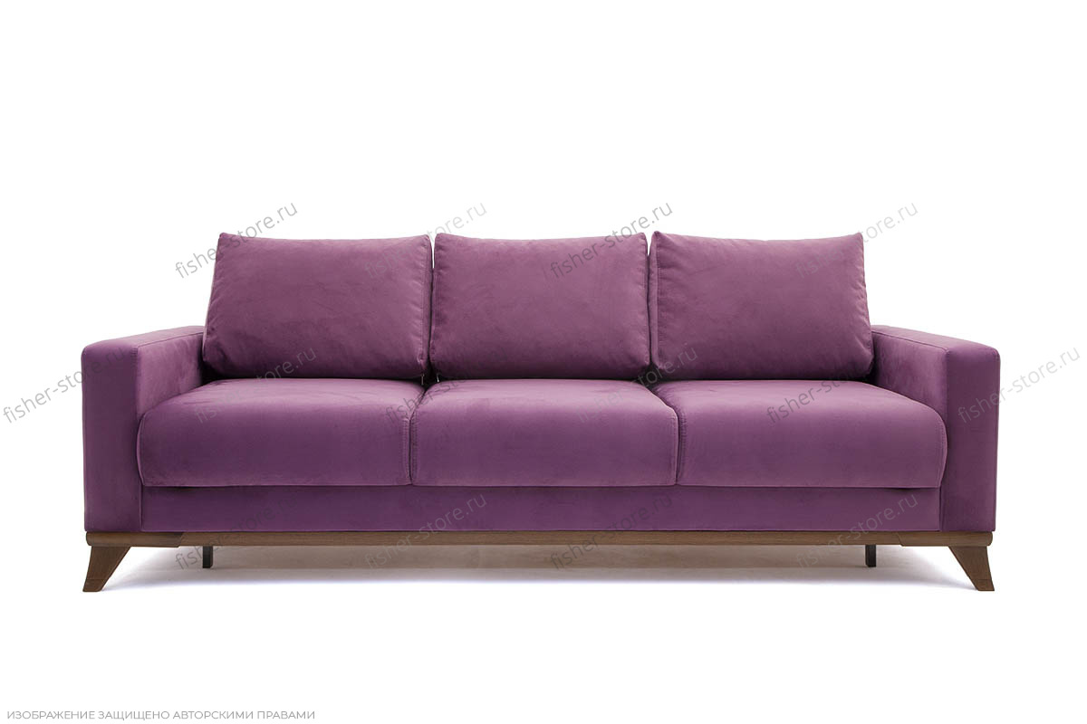 Прямой диван Джерси-2 с опорой №6 Maserati Purple Вид спереди