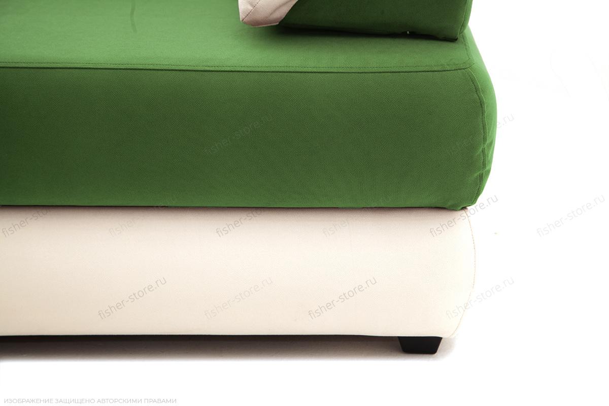 Прямой диван Фиджи Maserati Green + White Ножки