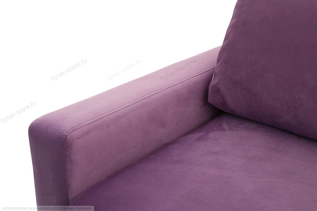 Прямой диван Джерси-2 с опорой №6 Maserati Purple Подлокотник