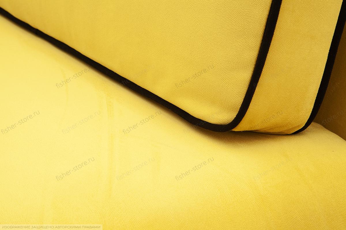 Диван Лаки Maserati Yellow + Black Текстура ткани