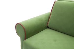 Прямой диван еврокнижка Олимп Maserati Green + Red Подлокотник