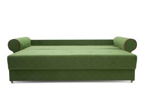 Прямой диван еврокнижка Олимп Maserati Green + Red Спальное место