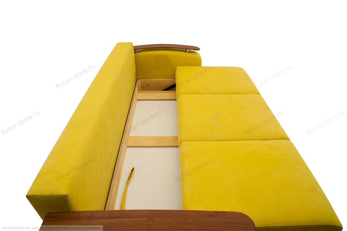 Прямой диван Джерси-3 с опорой №6 Maserati Yellow Ящик для белья