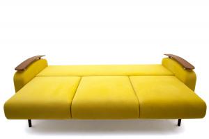 Прямой диван Джерси-3 с опорой №6 Maserati Yellow Спальное место