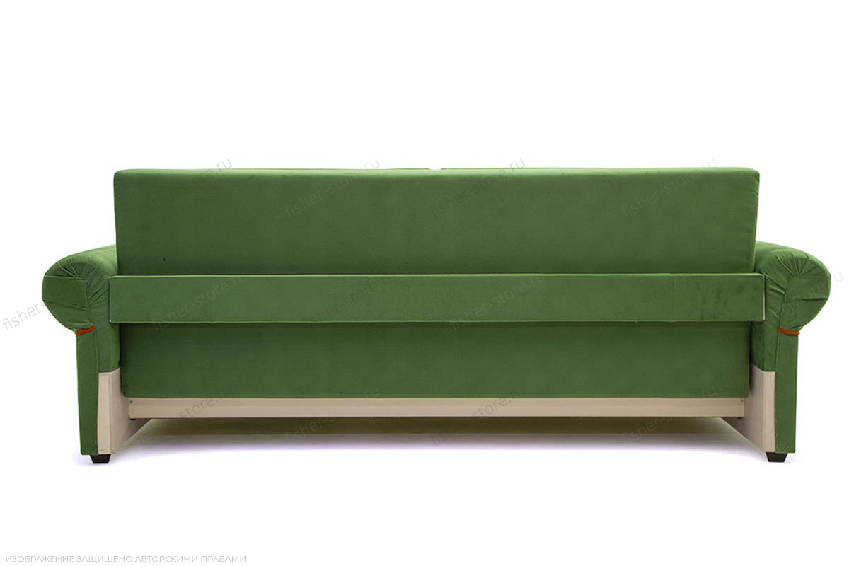 Прямой диван еврокнижка Олимп Maserati Green + Red Вид сзади