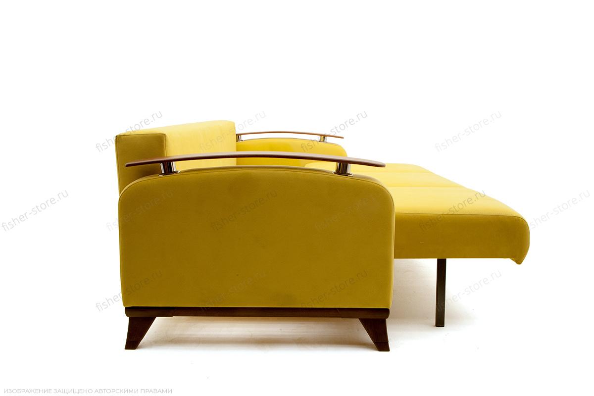 Прямой диван Джерси-3 с опорой №6 Maserati Yellow Вид сбоку