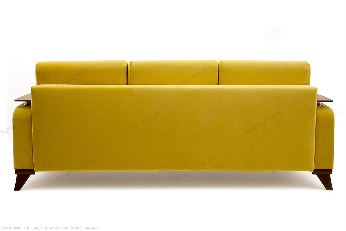 Прямой диван Джерси-3 с опорой №6 Maserati Yellow Вид сзади