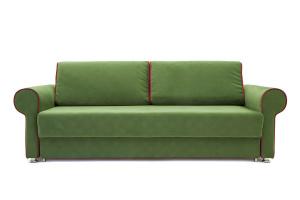 Прямой диван еврокнижка Олимп Maserati Green + Red Вид спереди