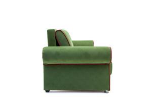 Прямой диван еврокнижка Олимп Maserati Green + Red Вид сбоку