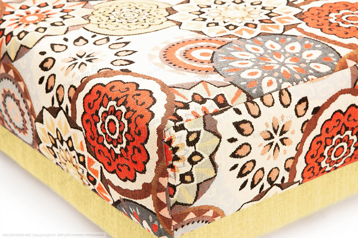 Тахта Парус-2 с опорой №11 History Summer + Orion Mustard Текстура ткани