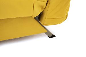 Прямой диван Виа Maserati Yellow Ножки