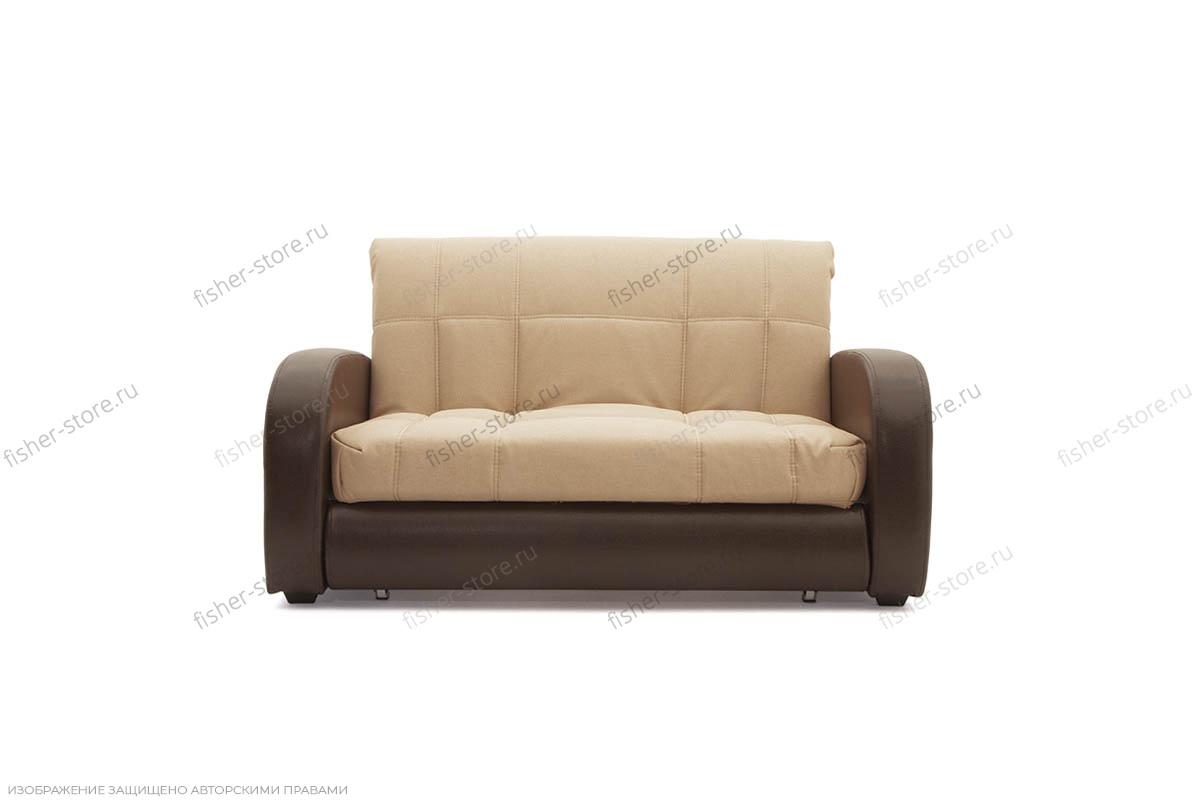 Прямой диван Виа-2 Savana Camel + Sontex Umber Вид спереди