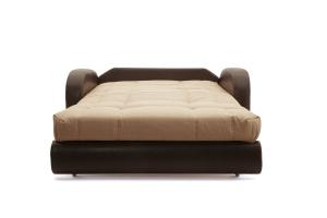 Прямой диван Виа-2 Savana Camel + Sontex Umber Спальное место