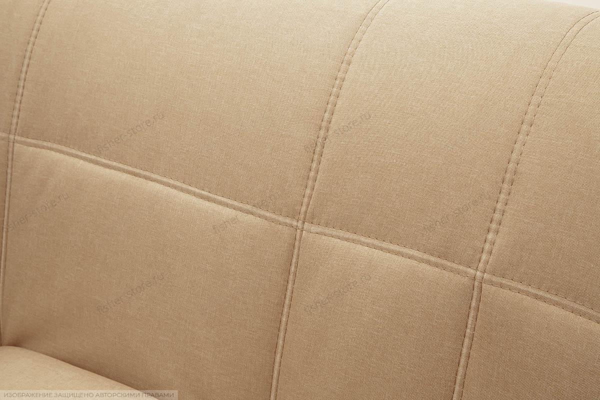 Прямой диван Виа-2 Savana Camel + Sontex Umber Текстура ткани