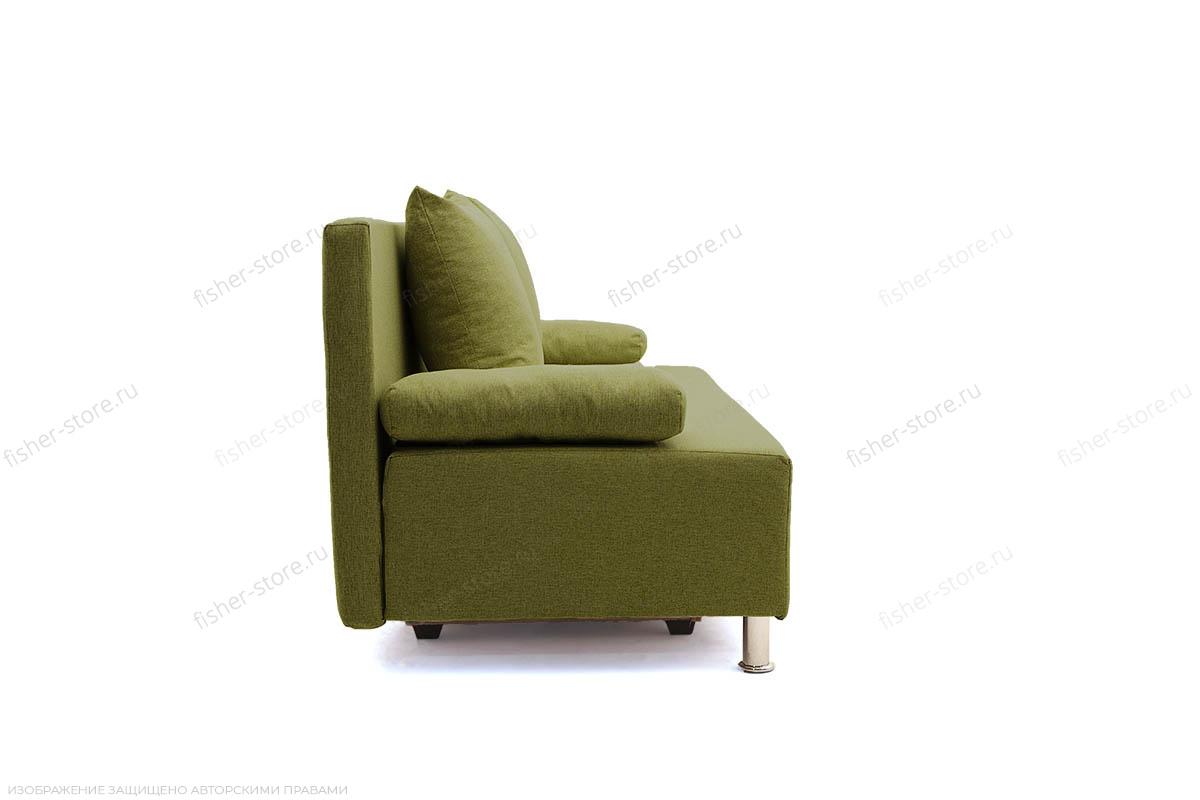 Прямой диван еврокнижка Чарли эконом Dream Green Вид сбоку