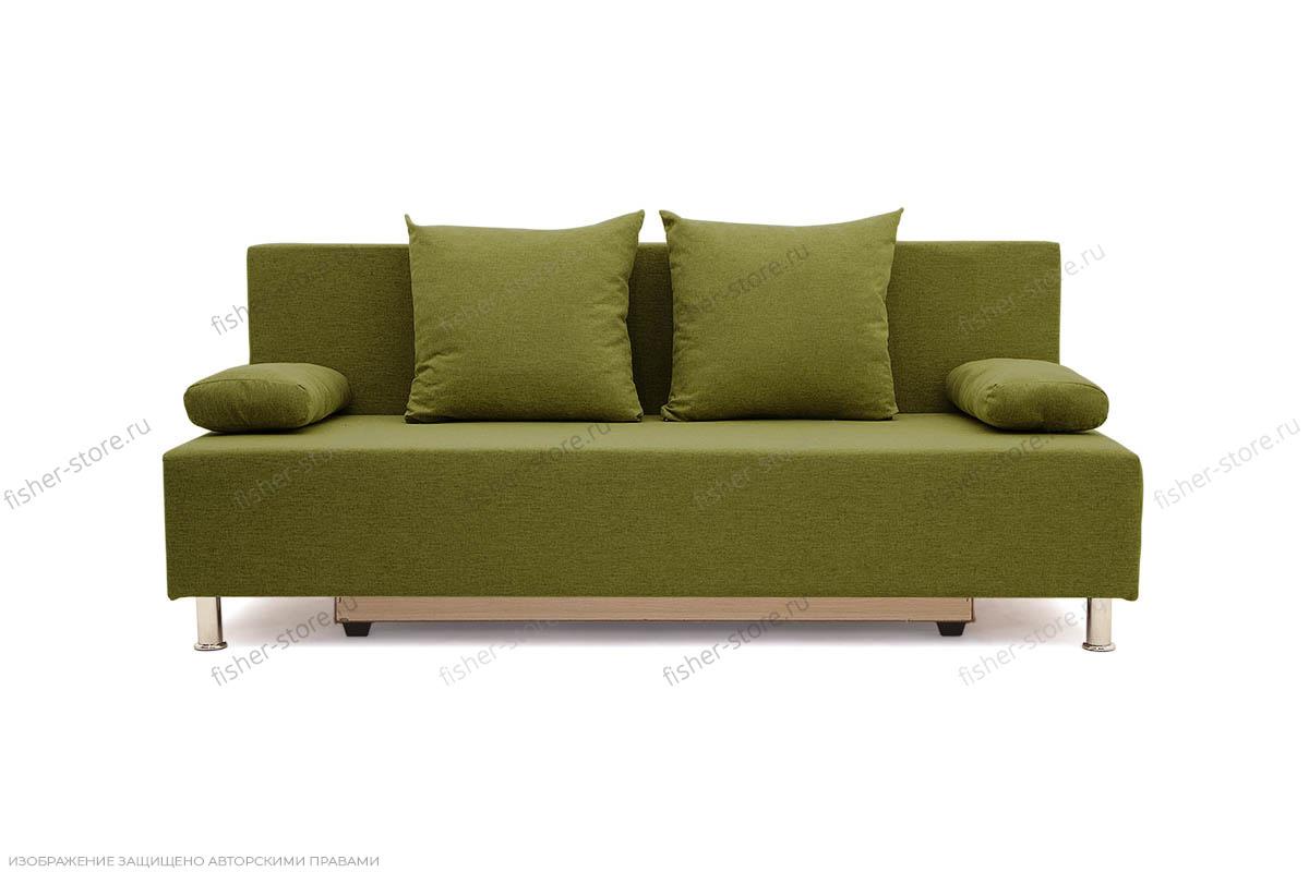 Прямой диван еврокнижка Чарли эконом Dream Green Вид спереди