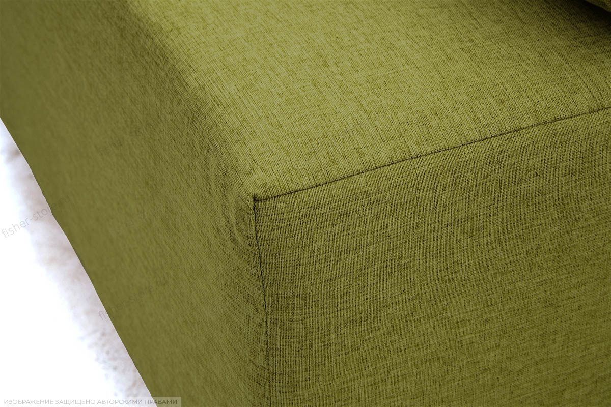 Прямой диван еврокнижка Чарли эконом Dream Green Текстура ткани