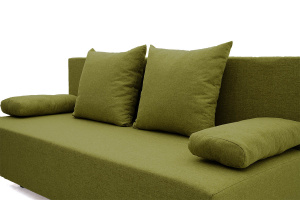 Прямой диван еврокнижка Чарли эконом Dream Green Подушки
