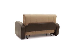 Прямой диван Виа-2 Savana Camel + Sontex Umber Вид сзади