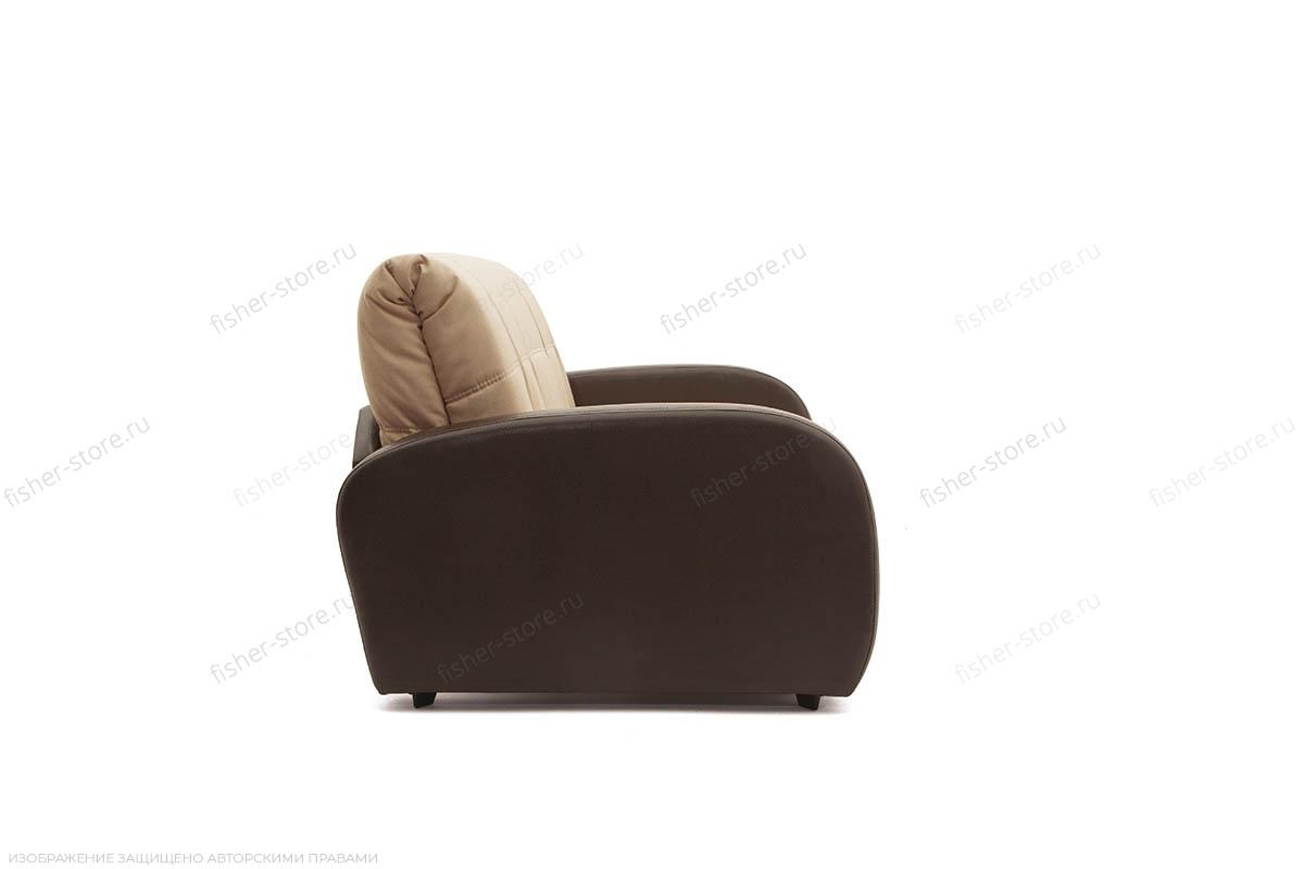 Прямой диван Виа-2 Savana Camel + Sontex Umber Вид сбоку