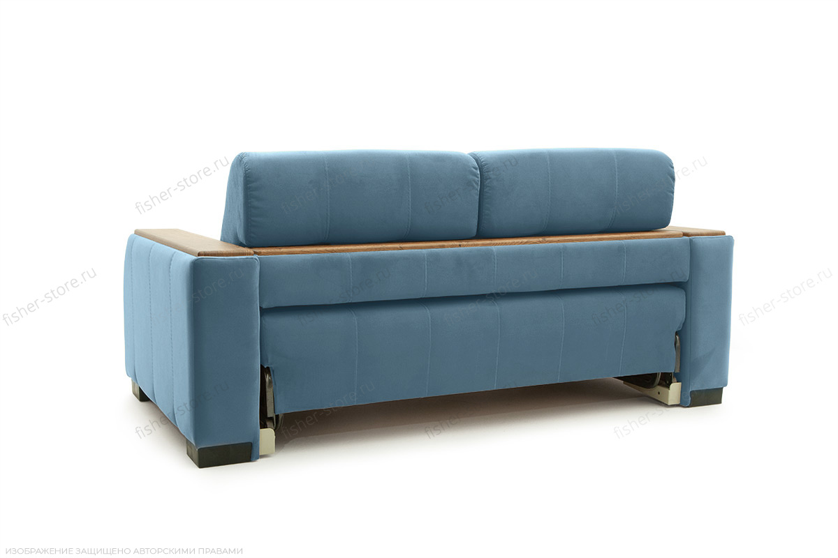 Прямой диван Берлин-2 Maserati Blue Вид сзади