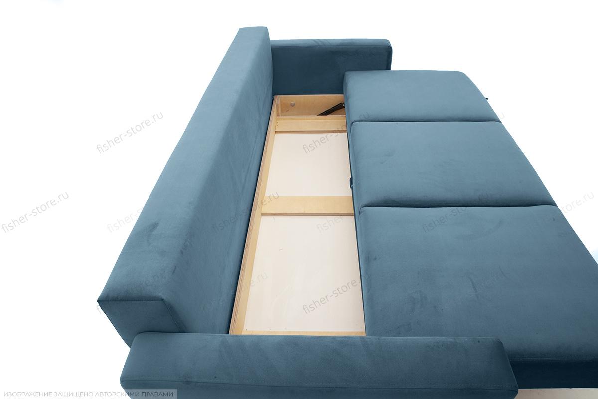 Прямой диван Джерси-2 с опорой №6 Maserati Blue Ящик для белья