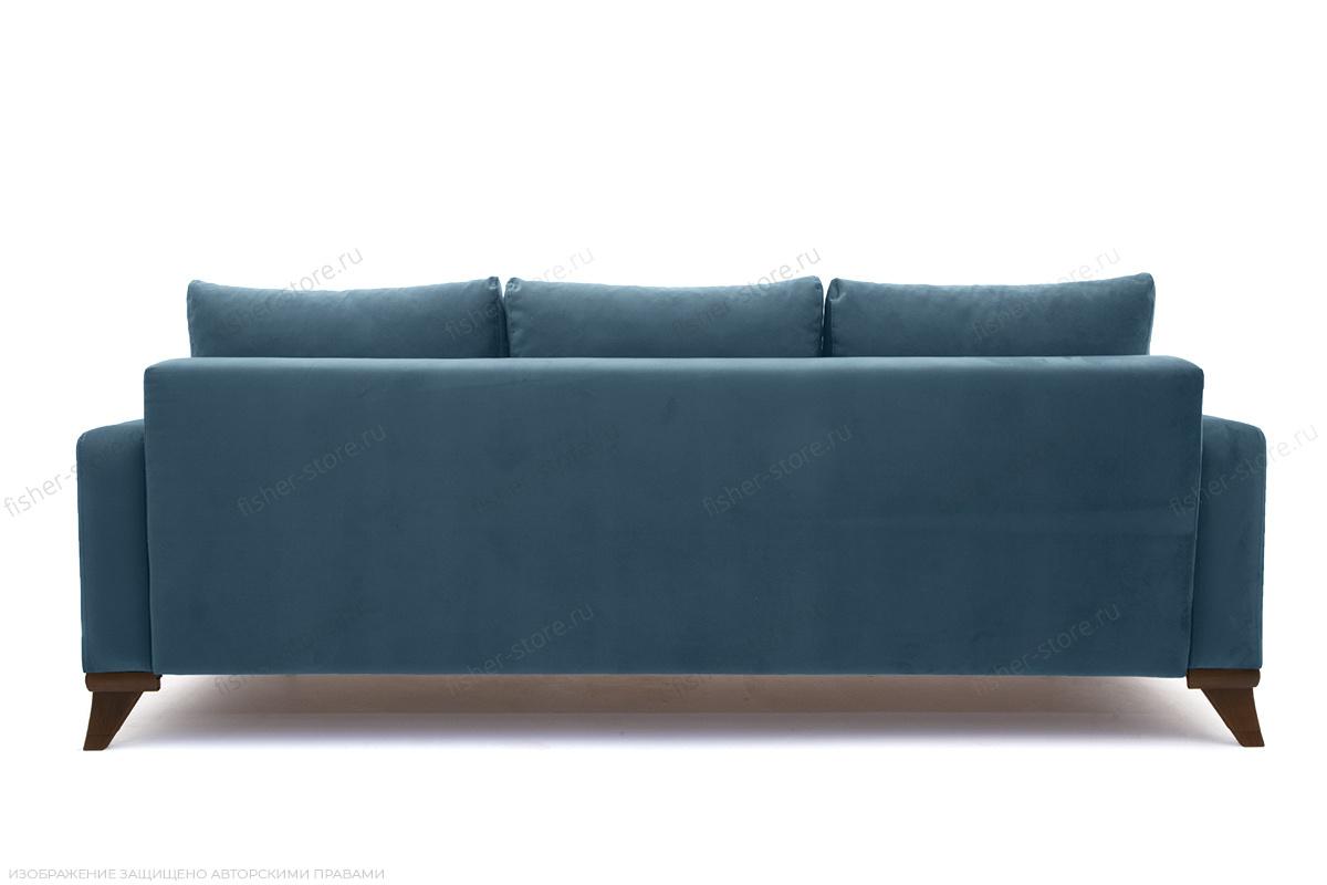 Прямой диван Джерси-2 с опорой №6 Maserati Blue Вид сзади