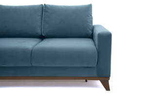 Прямой диван Джерси-2 с опорой №6 Maserati Blue