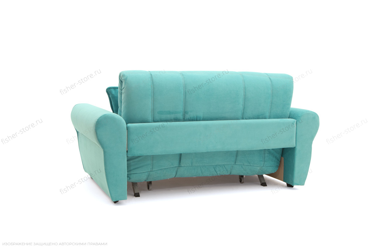 Прямой диван Виа-9 Infiniti Light blue Вид сзади