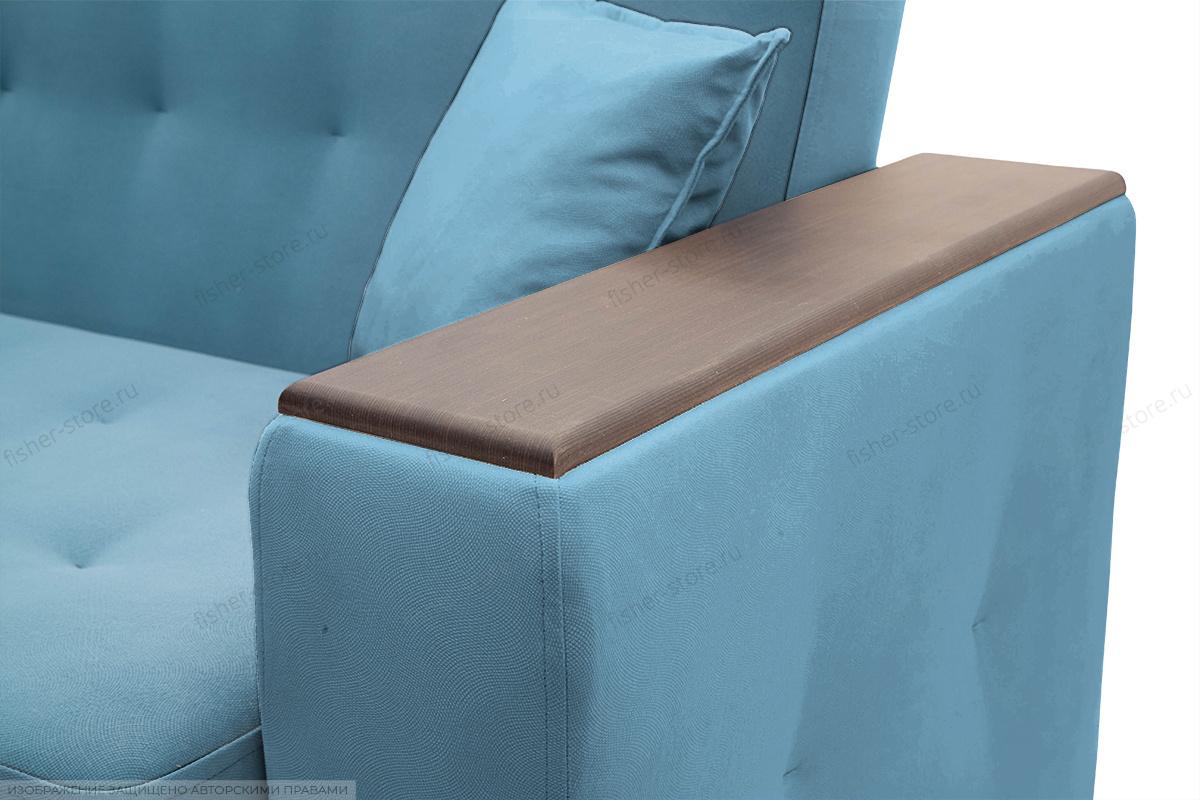 Прямой диван Берри люкс Maserati Blue Подлокотник