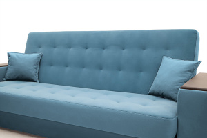 Прямой диван Берри люкс Maserati Blue Подушки