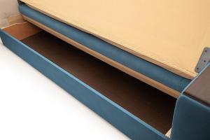 Прямой диван Берри люкс Maserati Blue Ящик для белья