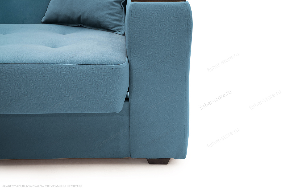 Прямой диван Берри люкс Maserati Blue Ножки