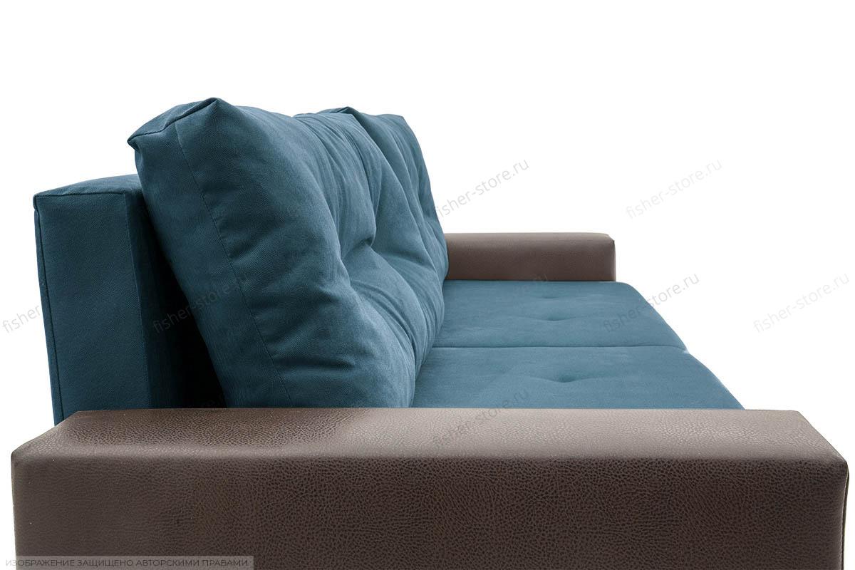 Прямой диван Хлоя Maserati Blue + Sontex Umber Подушки