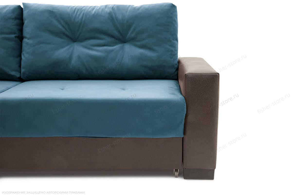 Прямой диван Хлоя Maserati Blue + Sontex Umber Ножки