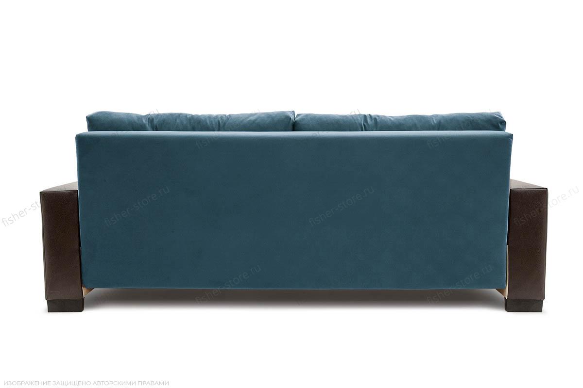 Прямой диван Хлоя Maserati Blue + Sontex Umber Вид сзади